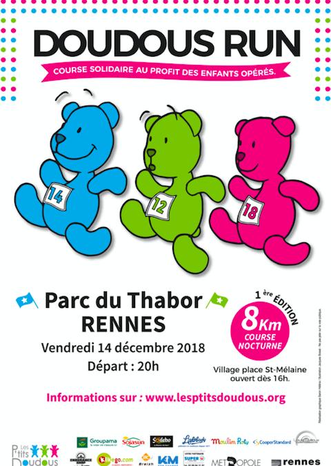 Doudous Run : 1ère course solidaire nocturne à Rennes